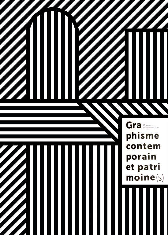 """Affiche de l'exposition """"Graphisme contemporain et patrimoine"""" à la BNF"""