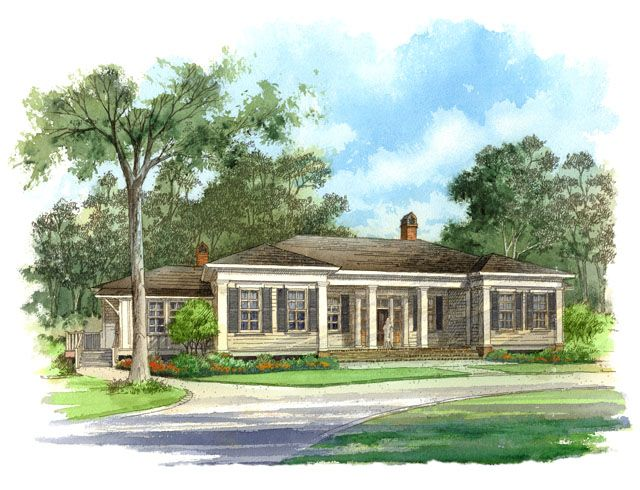An exclusive design for southern living by our town plans for Classic southern house plans