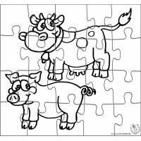 Puzzle di Animali della Fattoria