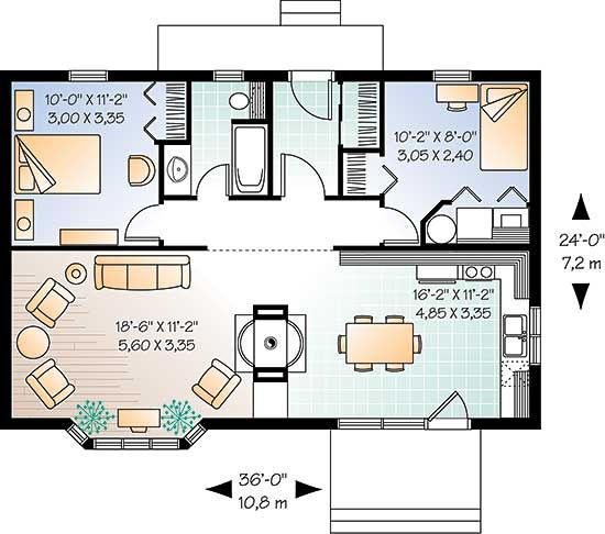Small House Plan Barn Pinterest Small House Plans Smallest House And House