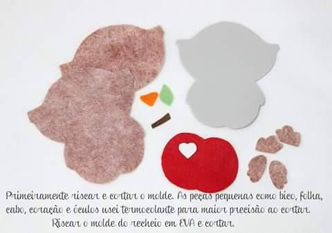 E hoje começamos com esse marcador depáginas fofo. Projeto   de Ateliê Fofurices Bella Manu! Molde no fim da postagem.                 ...