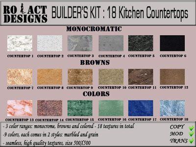 ..::RO!ACT::..DESIGNS Builder's Kit: Kitchen Countertops