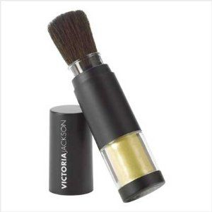 Victoria Jackson Shimmer Powder Brushes - Gold by made in china. $24.95. Just a twist of the brush, and its superfine powder adds a touch of glamour and a radiant dewdrop glow to your skin.