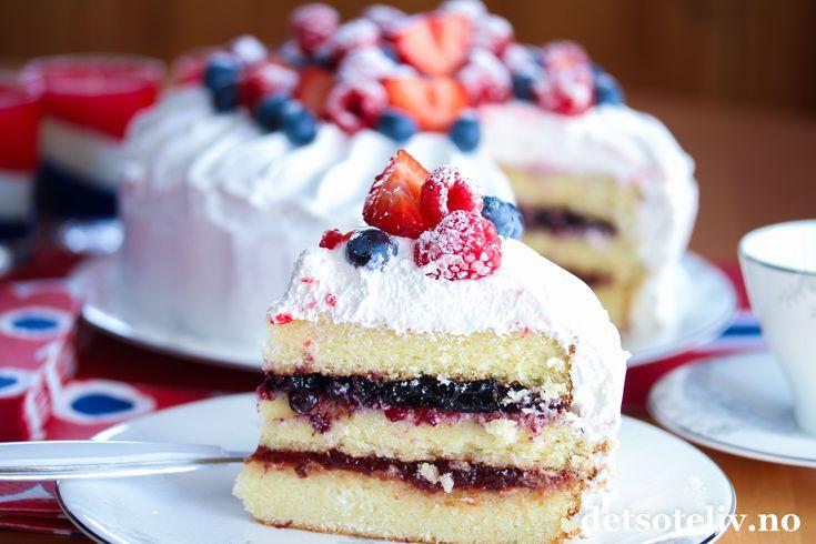 17. mai-kake med marengskrem