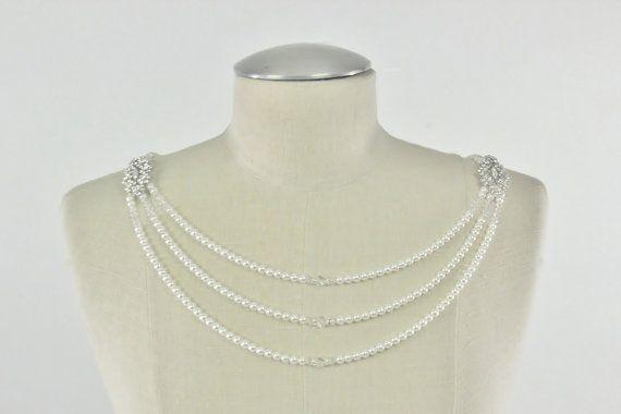 Brautschmuck Hochzeit Schulter Halskette von CamillaChristine