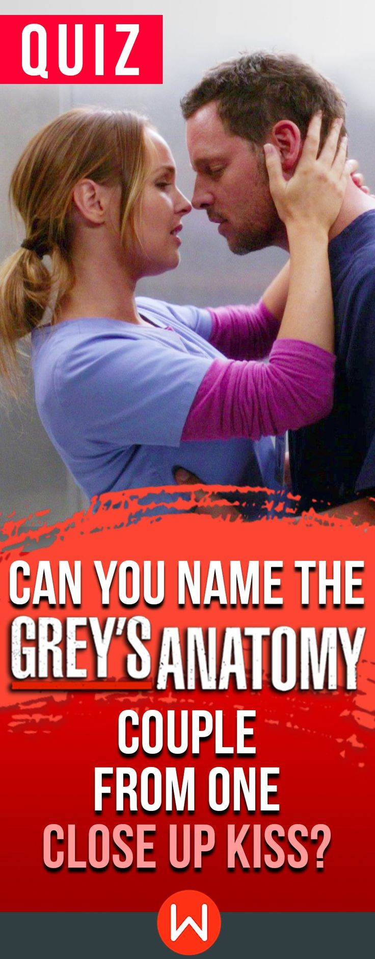 Grey's Anatomy quiz: Can you name the Grey's couple JUST from a close up kiss? Grey's love. Greys Anatomy kisses, Grey's romance quiz, Jolex, Japril, Merder... Grey's Anatomy trivia test, buzzfeed quizzes. Can you tell who is lip locking in these close-ups?