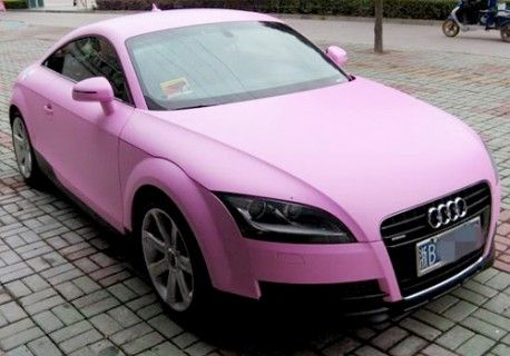Pink Audi TT ☆ Girly Cars for Female Drivers! Love Pink Cars ♥ It's the dream car for every girl ALL THINGS PINK #audi #pink!
