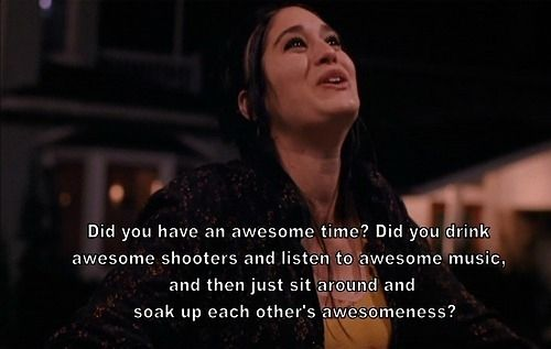 lets just all sit around and soak up eachothers awesomeness!!! i love mean girls!