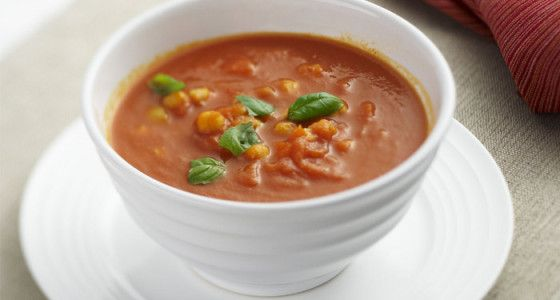 This soup is super healthy and a delicious, hearty vegetarian option. Make it a little Moroccan by adding some spice and accompanying with flatbread.