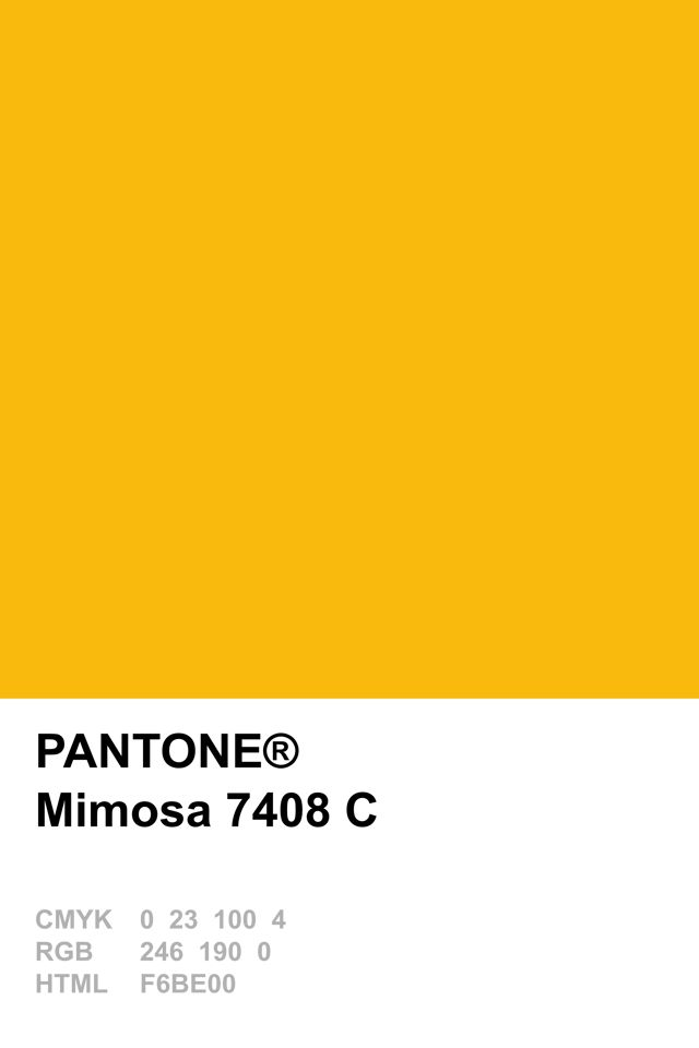 Pantone Colour Of The Year 2009 Mimosa