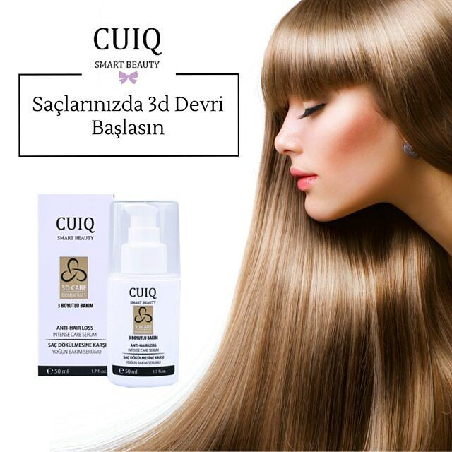 Cuiq Beauty ile 3D Devri Başlasın! ➤www.cuiqbeauty.com  #sacbakimi #sacdokulmesi #cuiqbeauty #guzellik