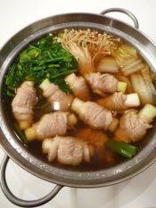 ねぎ豚巻きで☆風邪知らずの健康鍋。〜生姜スープ〜 レシピ・作り方 by まめもにお|楽天レシピ