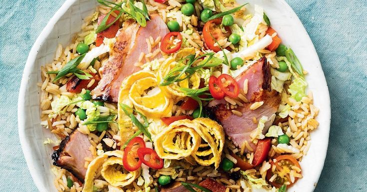 Caramelised ham slices take this fried rice to the next level.