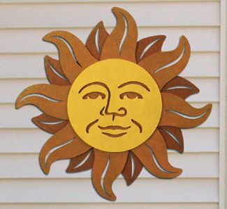 Celestial Sun Wall Decor Wood Pattern Impressive Southwest Or Design Will Brighten Any Outdoors Insi Yard Garden Woodcraft Plans