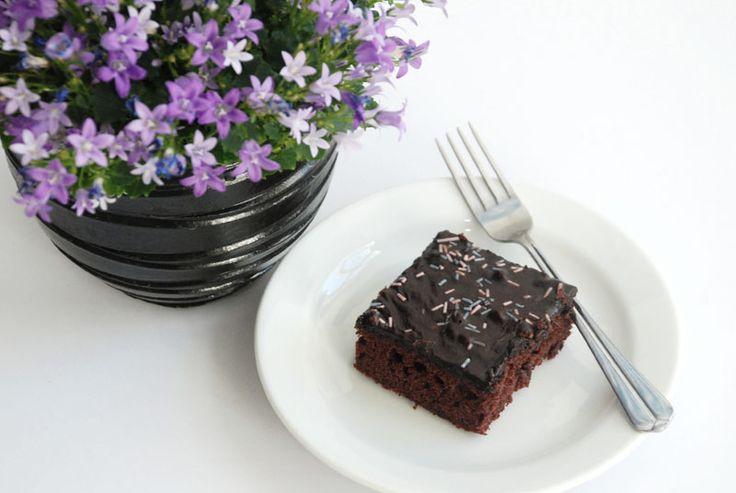 Chokoladekage med glasur
