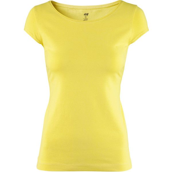 H&M Top ($9.26) ❤ liked on Polyvore featuring tops, shirts, yellow, bluzki, hufflepuff, h&m shirts, yellow shirt, jersey shirt, jersey top and shirt jersey