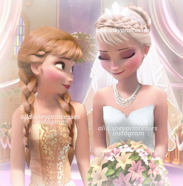 Oh ho ho! Elsa's getting married! I wonder who the guy will be . . Jack Frost put on your suit, baby. Someone's becoming a husband today :D