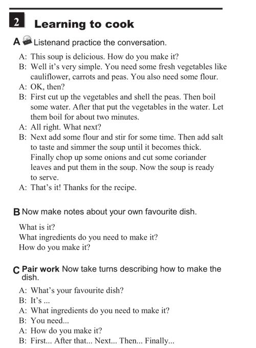 English Conversation Practice - Giving instructions - learning to cook -