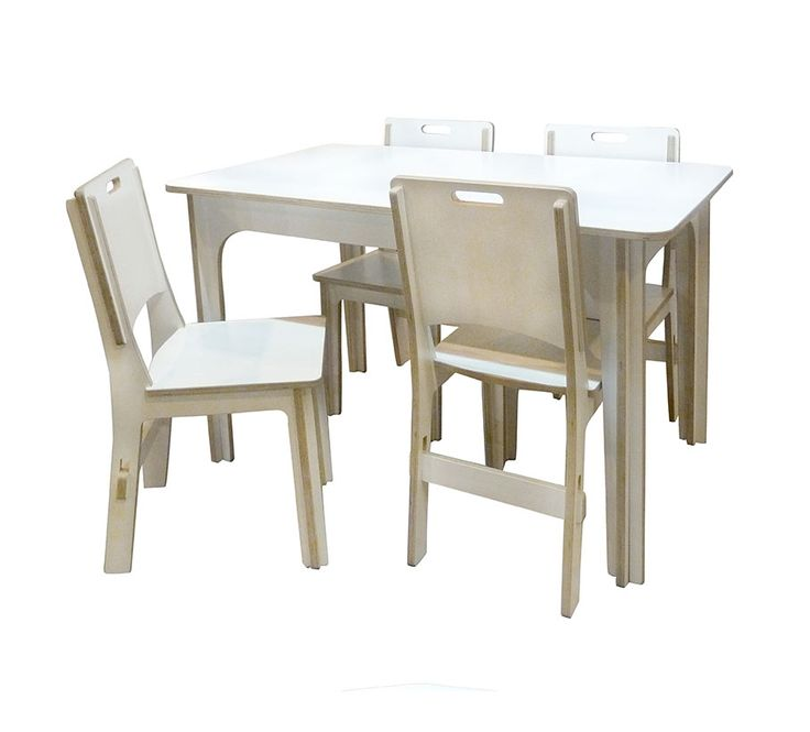 Dining Table Chairs Slot Range White Plywood Furniture By Quad Joinery Nottingham