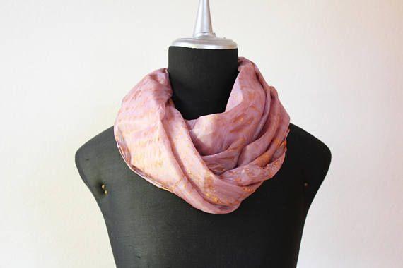 sciarpa seta tinta a mano/stola seta/sciarpa rosa bronzo/scarf silk hand dyed/foulard seta/arashi shibori scarf/100%silk