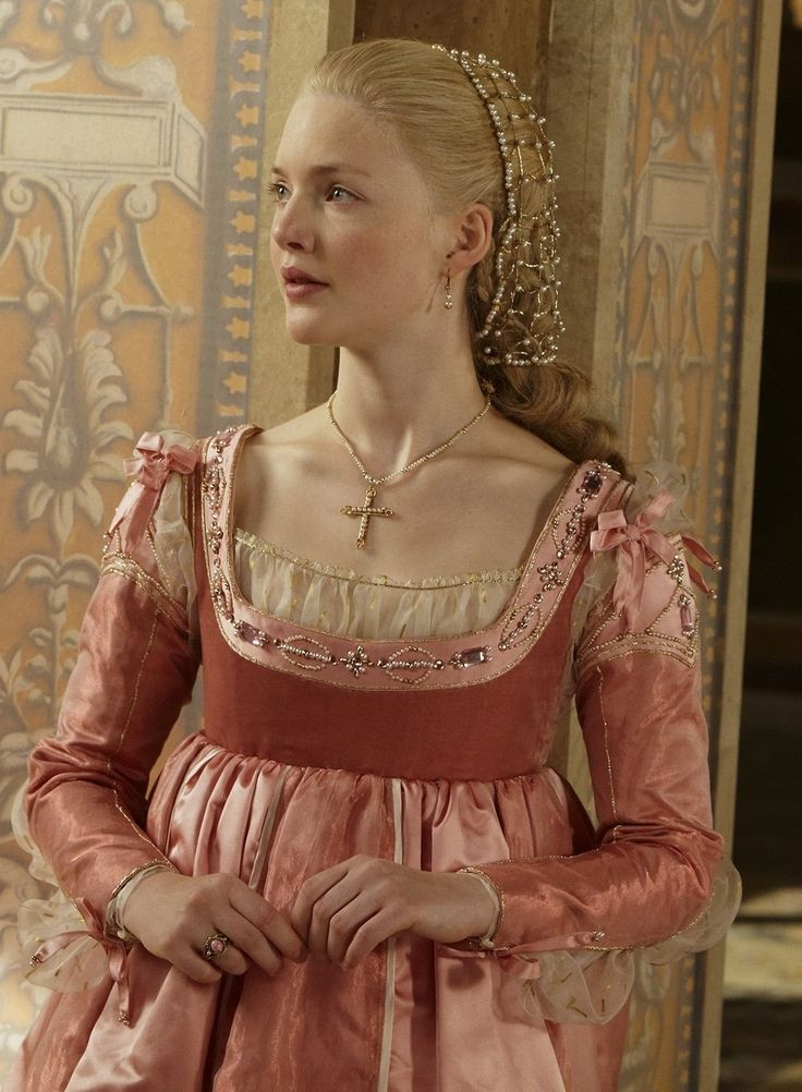 The Borgias pink dress - Medieval and Renaissance Dress. Love the sleeve detail