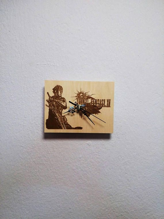 Check out this item in my Etsy shop https://www.etsy.com/listing/591302551/final-fantasy-xv-wooden-wall-clock-gift