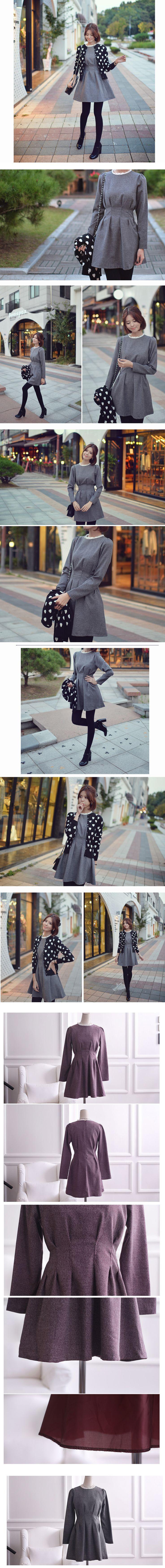 ba) メリージェーンラインワンピース(2色) - 韓国ファッション通販【セレクトショップKii-Na】キーナ