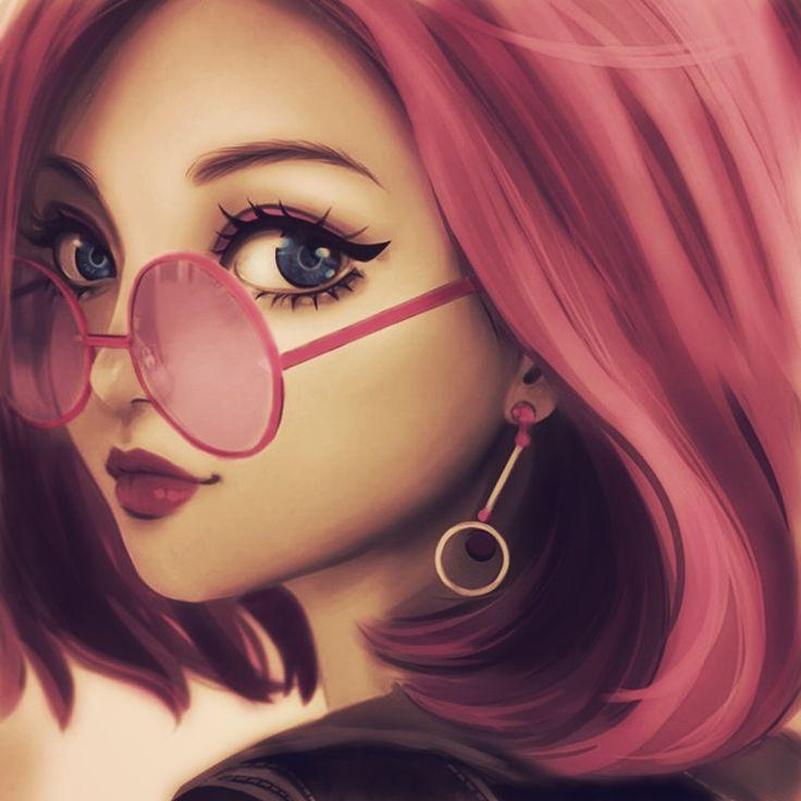 Красивые картинки на аватарку для девушек мультяшные
