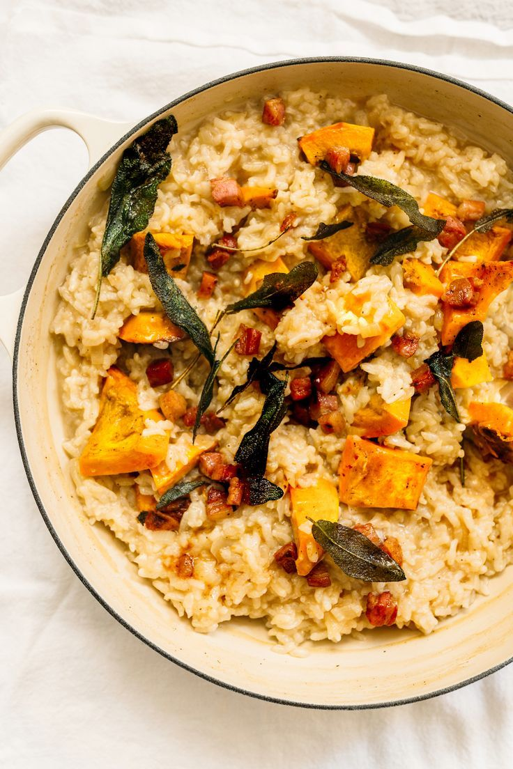 oven baked risotto with squash sage and pancetta recipe pancetta recipes risotto recipes baked risotto recipes pinterest