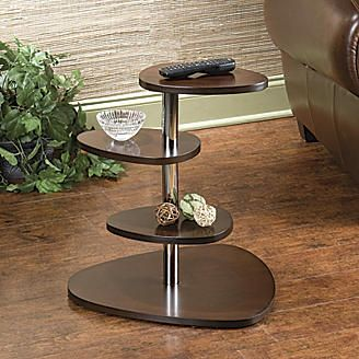 Espresso Wood Grain Contemporary Accent Table from Seventh Avenue ®