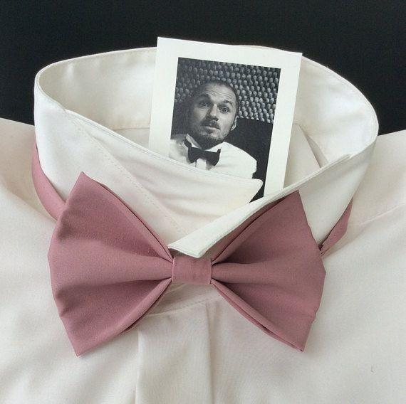 Fliege Hochzeitsfliege Altrosa Slim Hand Sewing Cotton Blend Fabric
