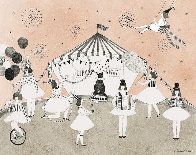 Circus night | Madame Lolina #circus #illustration