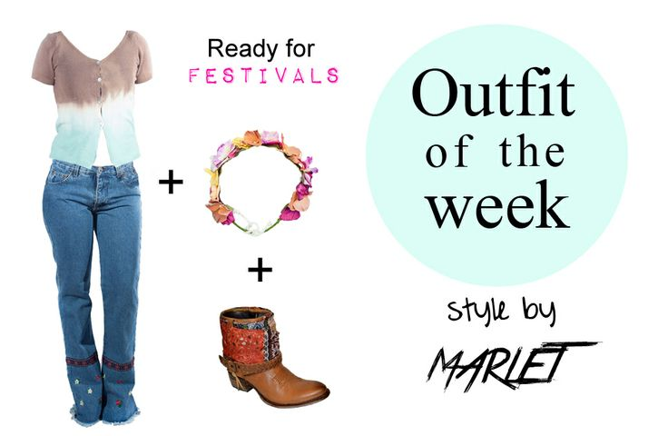 Vintage outfit for festivals! Vintage Top: http://marlet-shop.com/collections/tops/products/vintage-degradade-top  Vintage Bell-bottoms: http://marlet-shop.com/collections/skirt/products/vintage-jeans  Blog: http://marlet-shop.com/blogs/news