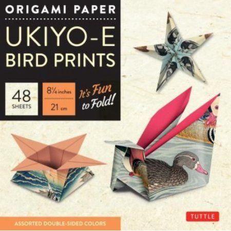 Origami Paper Ukiyo-E Bird Prints, 48 Sheets