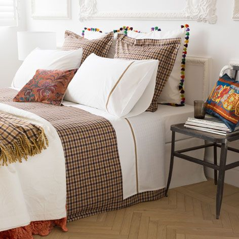 SMALL CHECKS COTTON BED LINEN - Bedroom - Special Prices | Zara Home Romania
