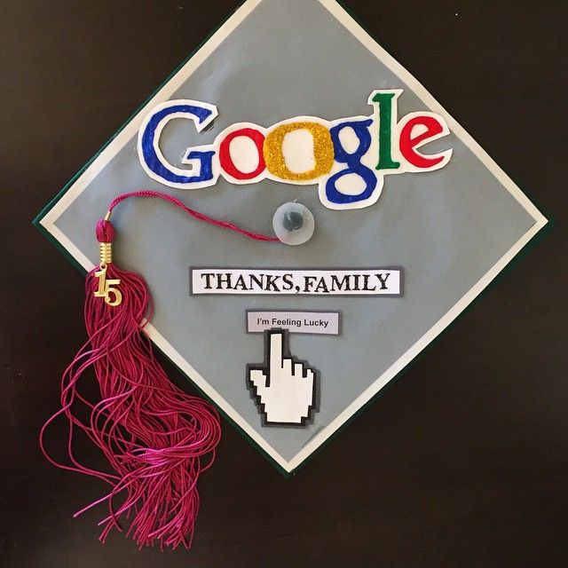 """Pin for Later: 11 Clever Graduation Cap Ideas That Any Fan of the Internet Will Enjoy """"Thanks, Family"""""""