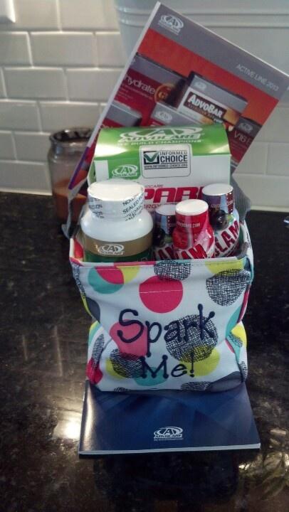 My Advocare basket for a donation. Spark, slam, omegaplus and more. DeniseVioletsSpark.com