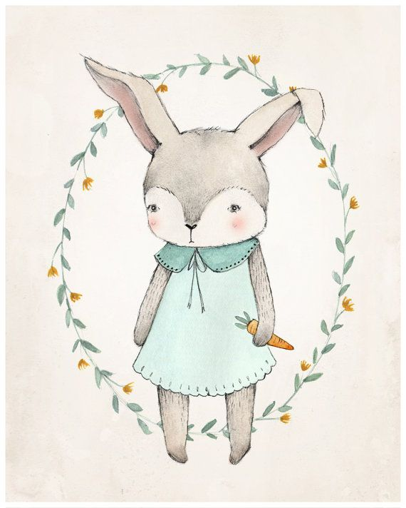 Awesome Etsy listing at https://www.etsy.com/pt/listing/175158985/bunny-print-8x10