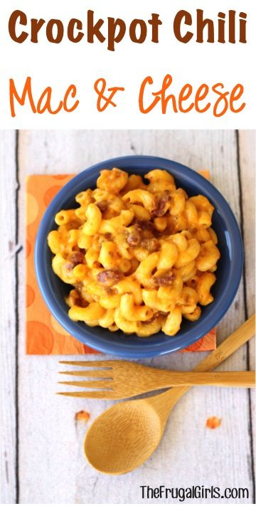 Revamp your classic Macaroni and Cheese with this delicious Crockpot Chili Mac and Cheese Recipe! It's SO easy, and perfect for Dinner or Party Food!