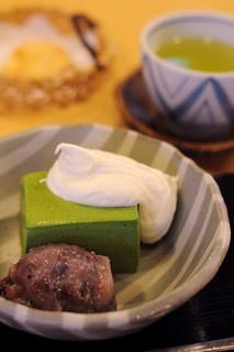 紀の善 - 料理写真:抹茶ババロア