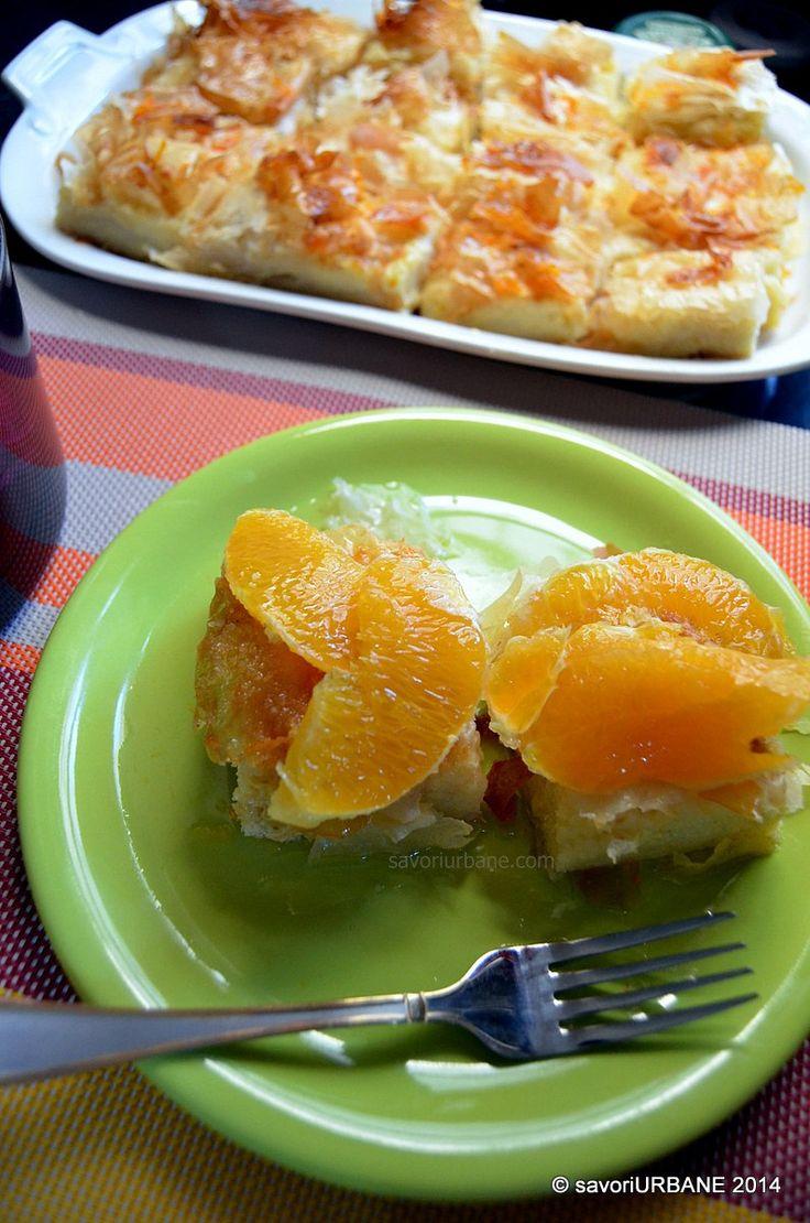 Placinta cu gris si portocale Galaktoboureko