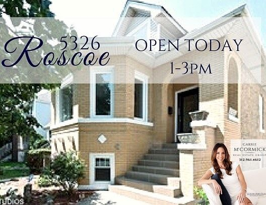 Portage Park 5 bedroom home ready for move in!  Open house today from 1-3pm.  #portageparkchicago #portagepark #portageparkopenhouse #portageparkhomes #carriemccormick #chicagoagent