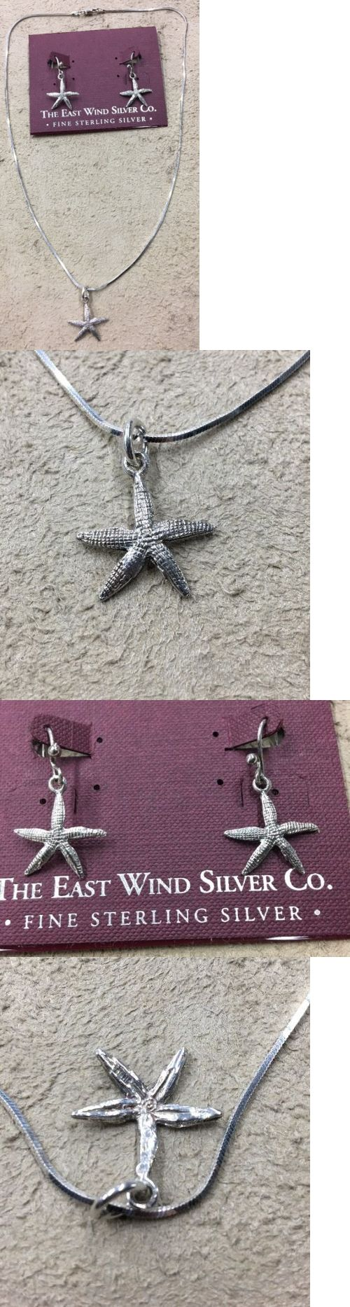 Precious Metal without Stones 164325: East Wind Sterling Co. Silver (925) Starfish Matching Necklace And Earrings -> BUY IT NOW ONLY: $50.0 on eBay!