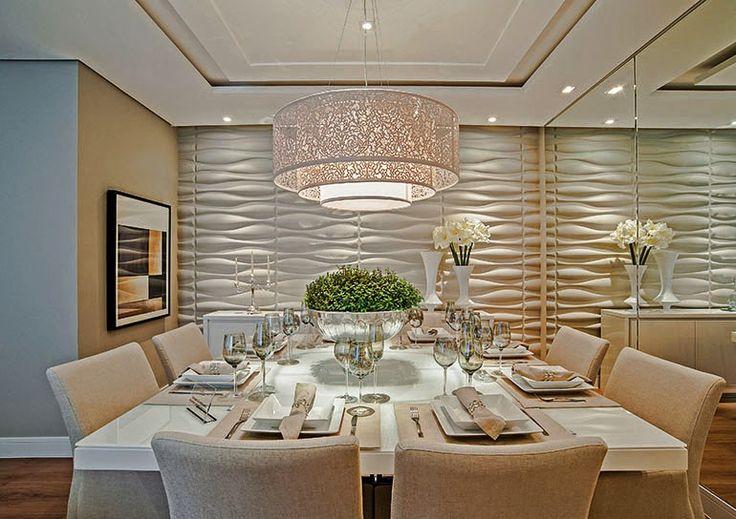 Salas de jantar brancas e off whites - veja modelos lindos e dicas de como decorar!