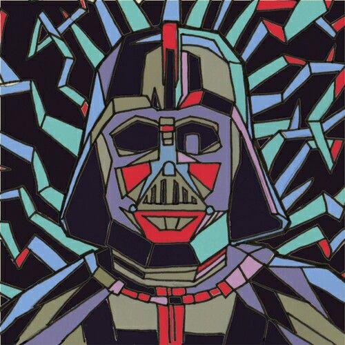 Colour study for a new painting for an upcoming Star Wars themed exhibition at ArtBoy Gallery