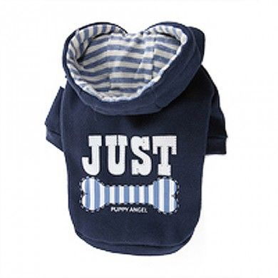 Just For You Dog Hoodie in Blue