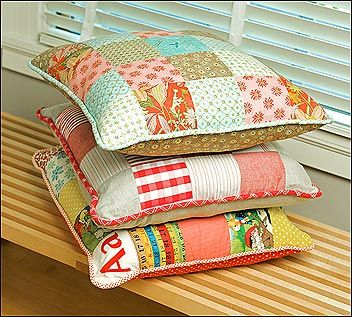 Patchwork pillows tutorial