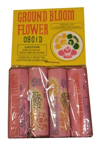 GROUND BLOOM FLOWER 4PK - Collectible Fireworks - Pennsylvania Fireworks - Retail Fireworks - Wholesale Fireworks -