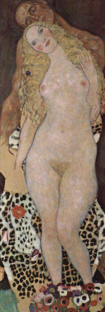 Адам и Ева :: Густав Климт, картина ню, эротика в живописи  - Gustav Klimt (Климт Густав )