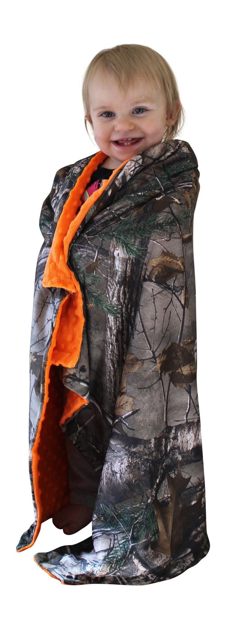 Camo Baby Blanket Realtree Xtra Minky Dot Blaze Camouflage Baby Boy Girl Redneck Country Gift Made in USA Officially Licensed